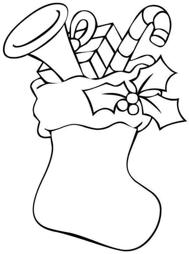 stocking free coloring pages - photo#11