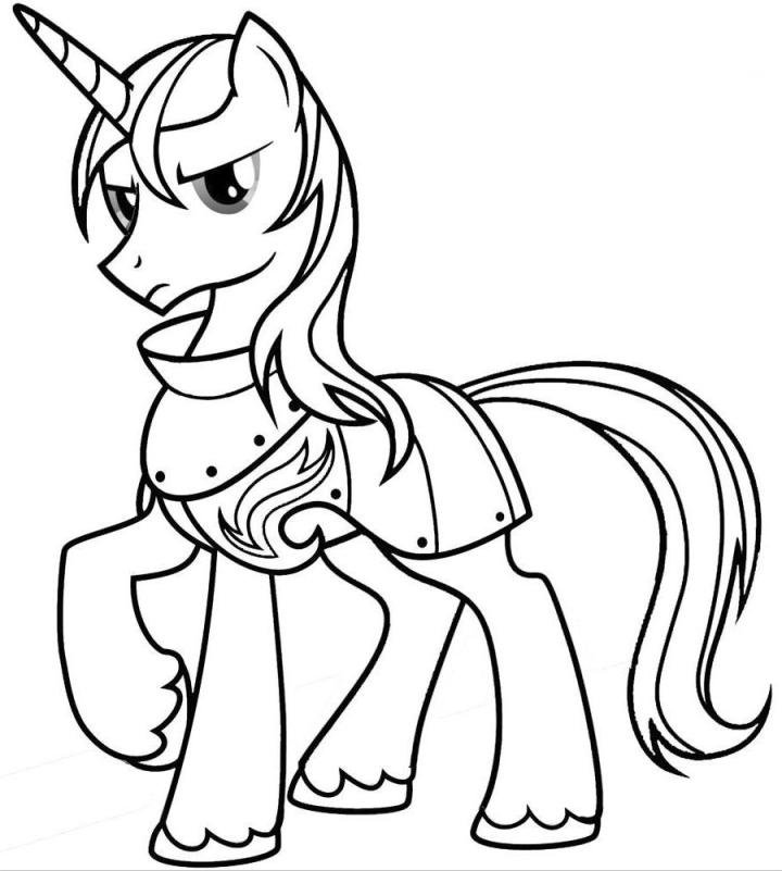 Print My Little Pony Coloring Pages Shining Armor or Download My