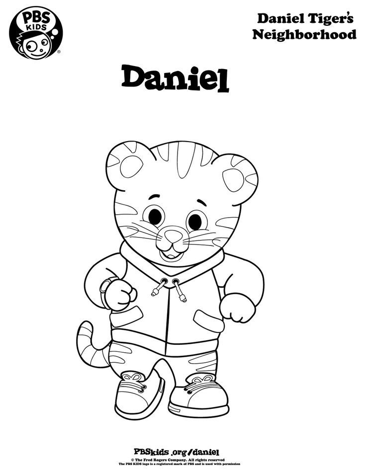 Daniel Tiger coloring page | Michaela <3