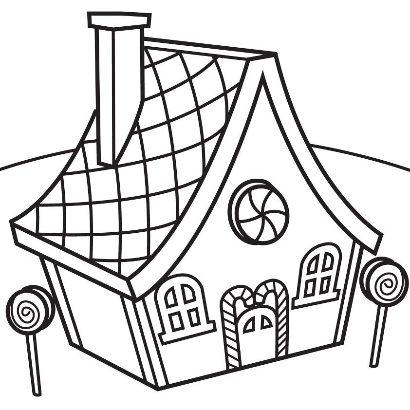 gingerbread house candy coloring pages - photo#22