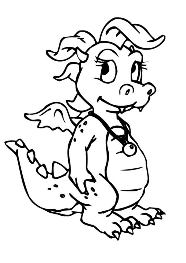 Cute baby dragon pictures coloring home for Baby dragon coloring pages