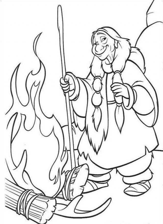 Brother bear book coloring home for Old lady coloring page