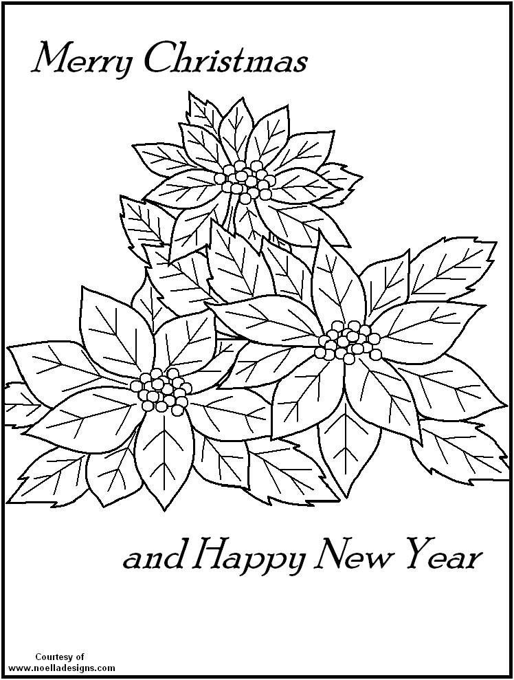 Poinsettia Coloring Page Coloring