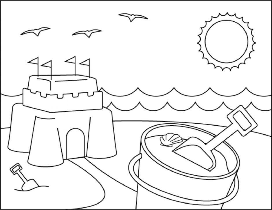 Beach themed coloring pages coloring home for Summer themed coloring pages