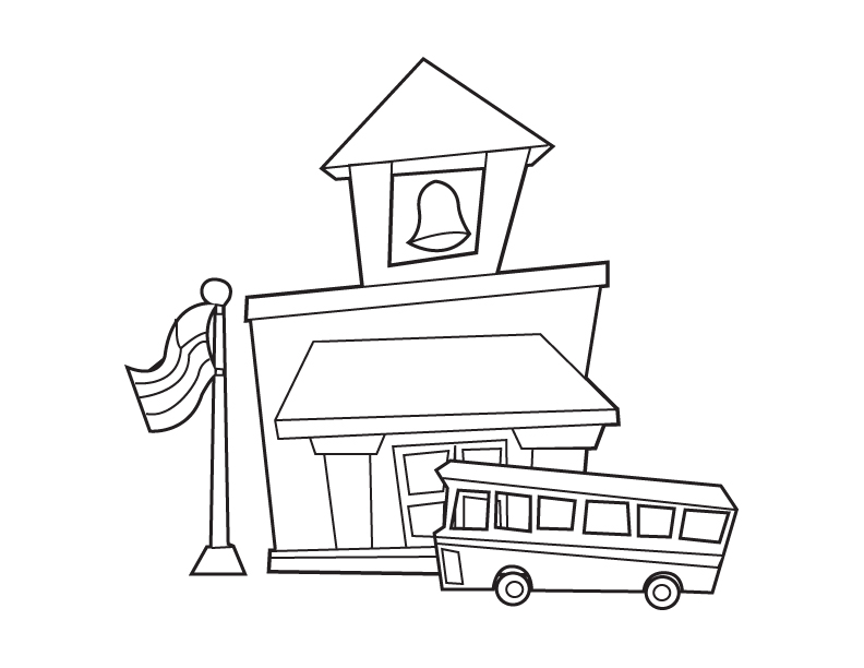 Cartoon Picture Of A House Az Coloring Pages School House Coloring Pages