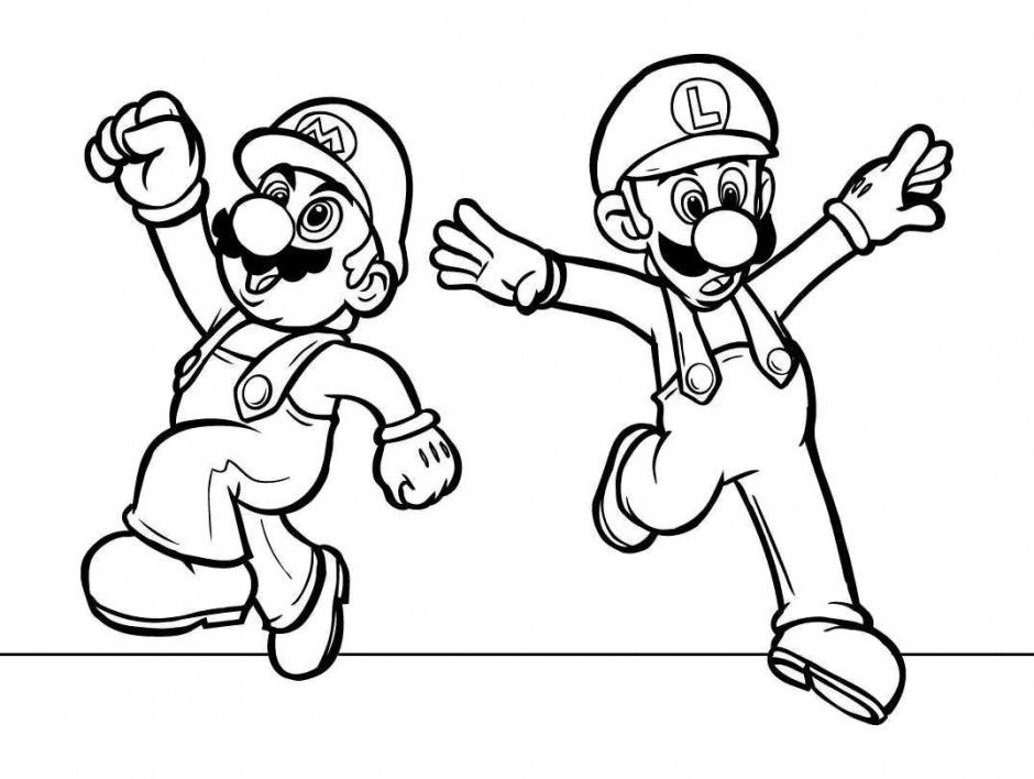 Mario Coloring Pages Pdf : Super mario characters coloring pages kids summer flowers