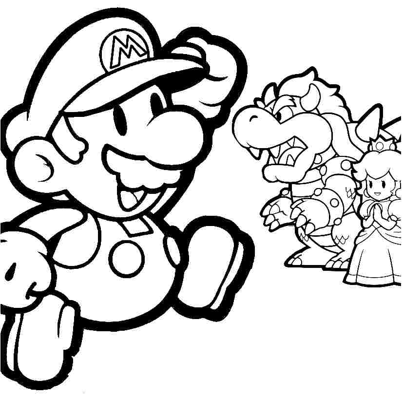 Printable Free Coloring Pages Cartoon Super Mario Bros For Kids