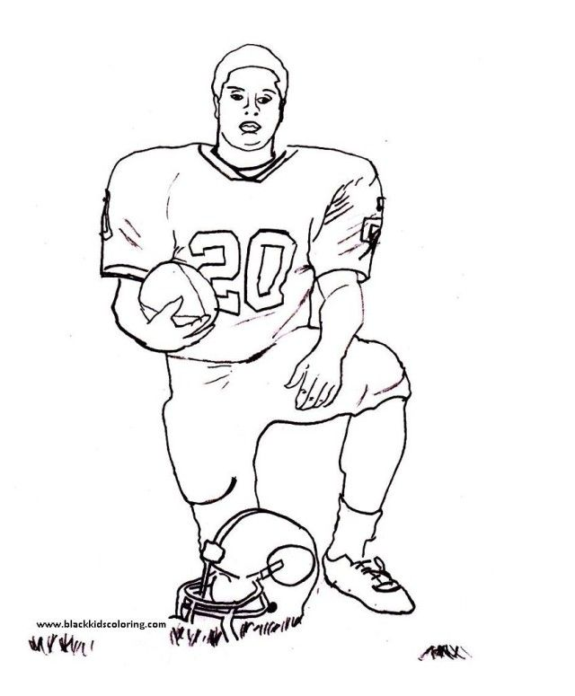 Football Player Coloring Pages To Print | Laptopezine.