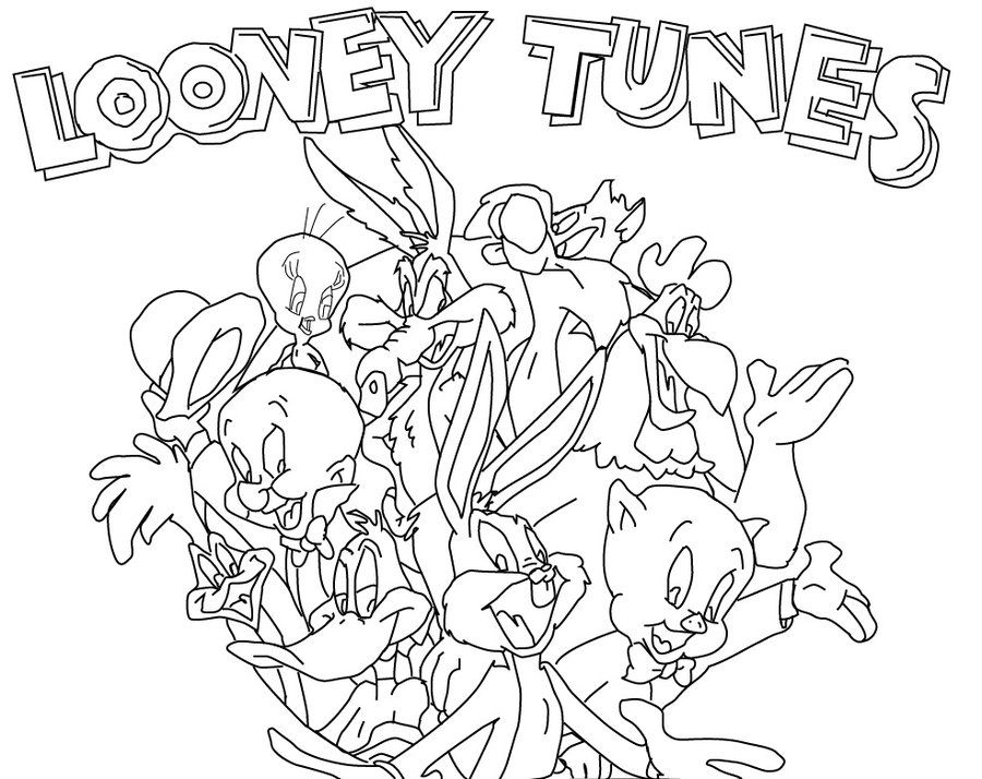 Download Looney Tunes Colouring Pages For Kids Or Print Looney
