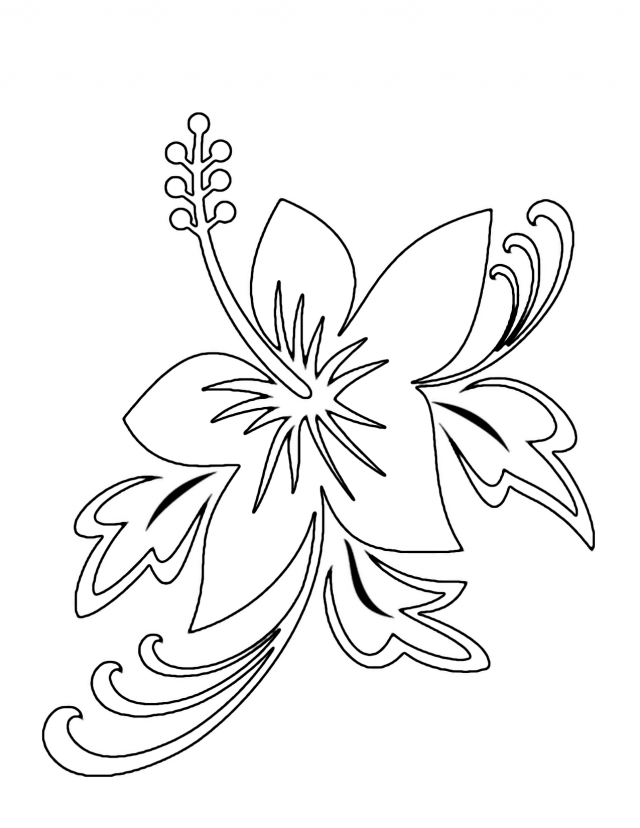 Coloring Pages Of Flowers Games : Hawaiian flowers coloring pages online games
