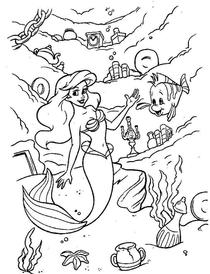 Ariel Coloring Pages : Coloring Book Area Best Source for Coloring