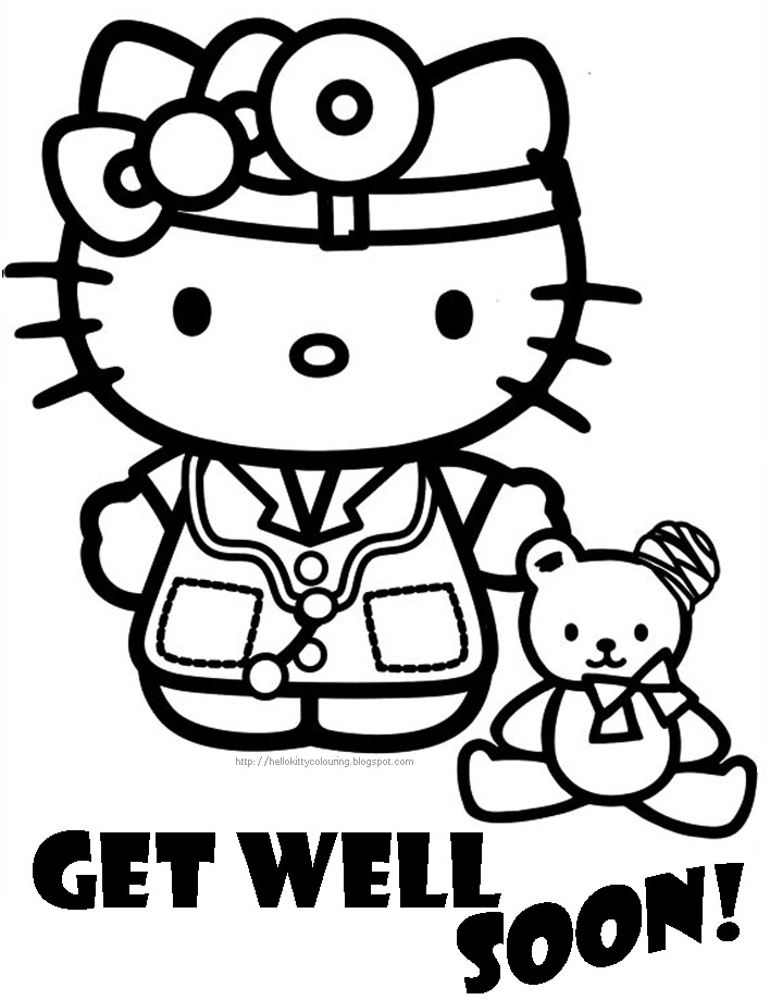 kids get well coloring pages - photo#9