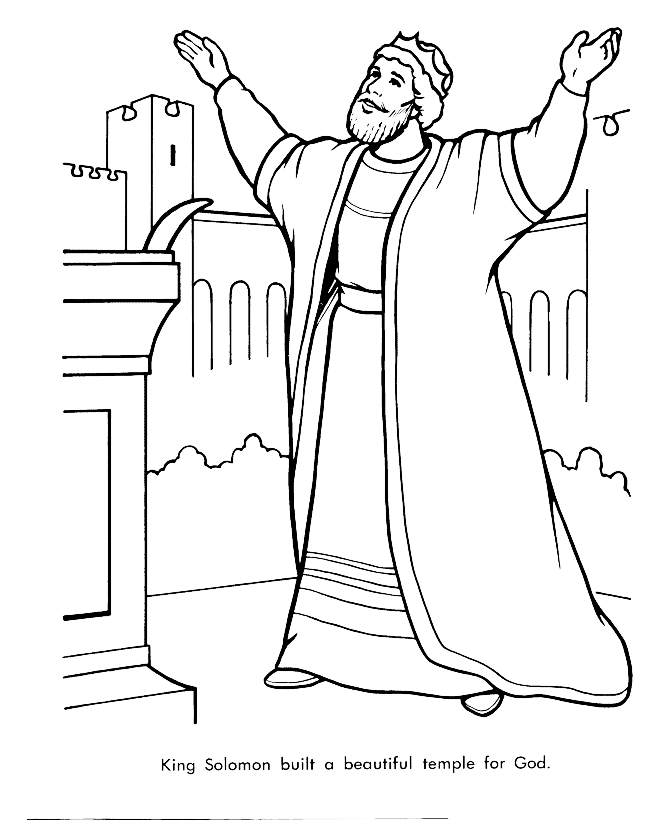 david and solomon coloring pages - photo#11