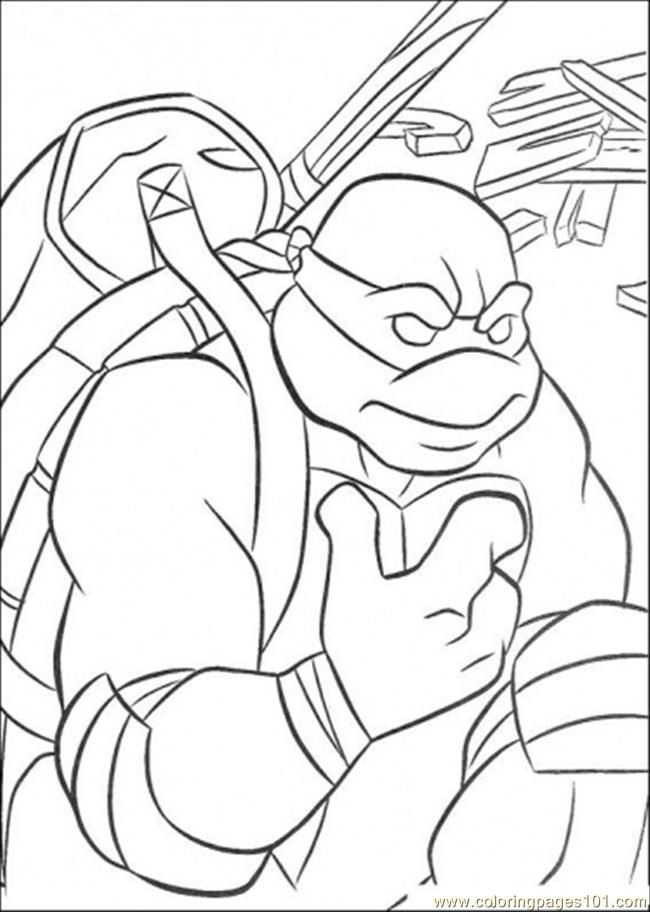ninja turtle Donatello Colouring Pages