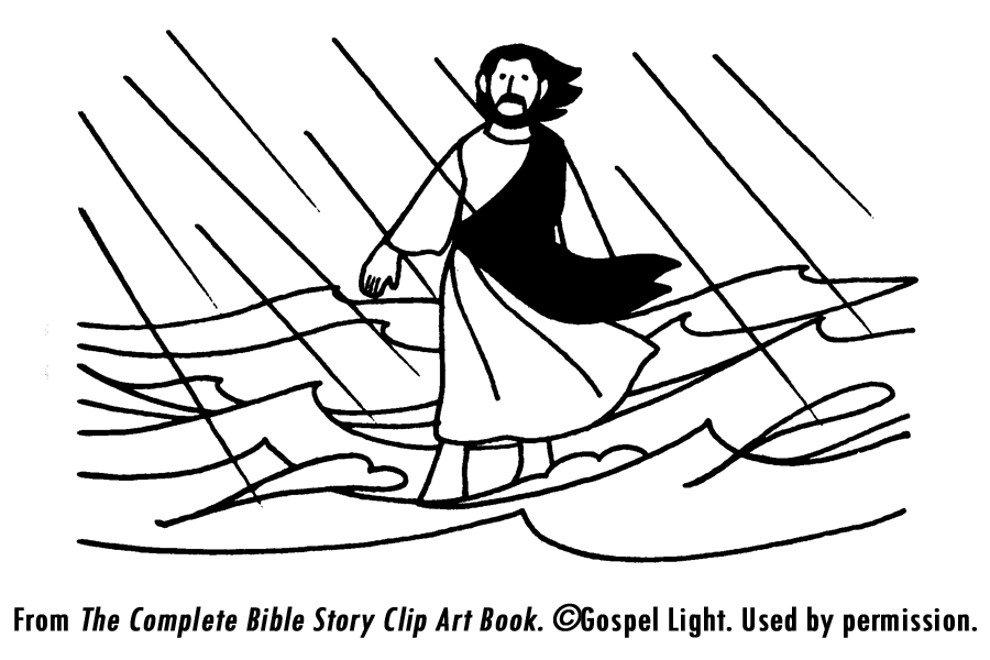 Jesus Walking On Water Coloring Page