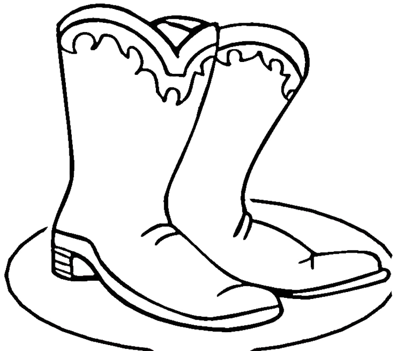printable cowboy boots coloring pages - photo#3