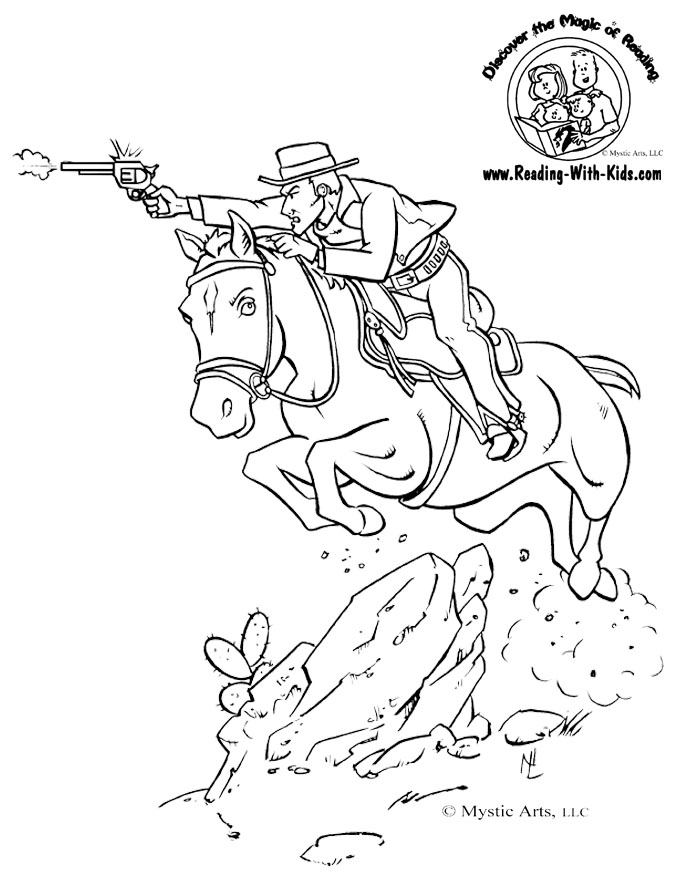 Cowboy Coloring Book Pages