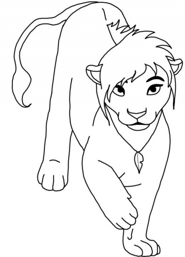 Lion Coloring Pages Pdf : Lion king coloring pages printable sheet