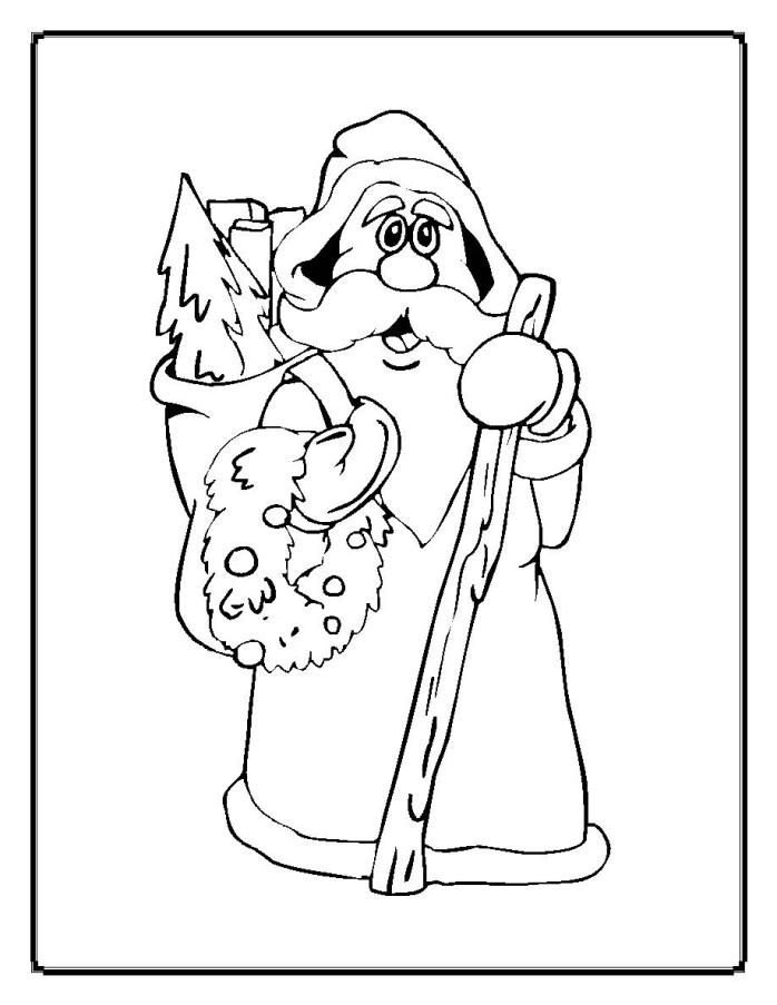 mother christmas coloring pages - photo#16