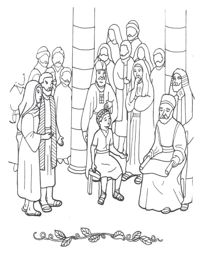 jesus disciples coloring pages - photo#8