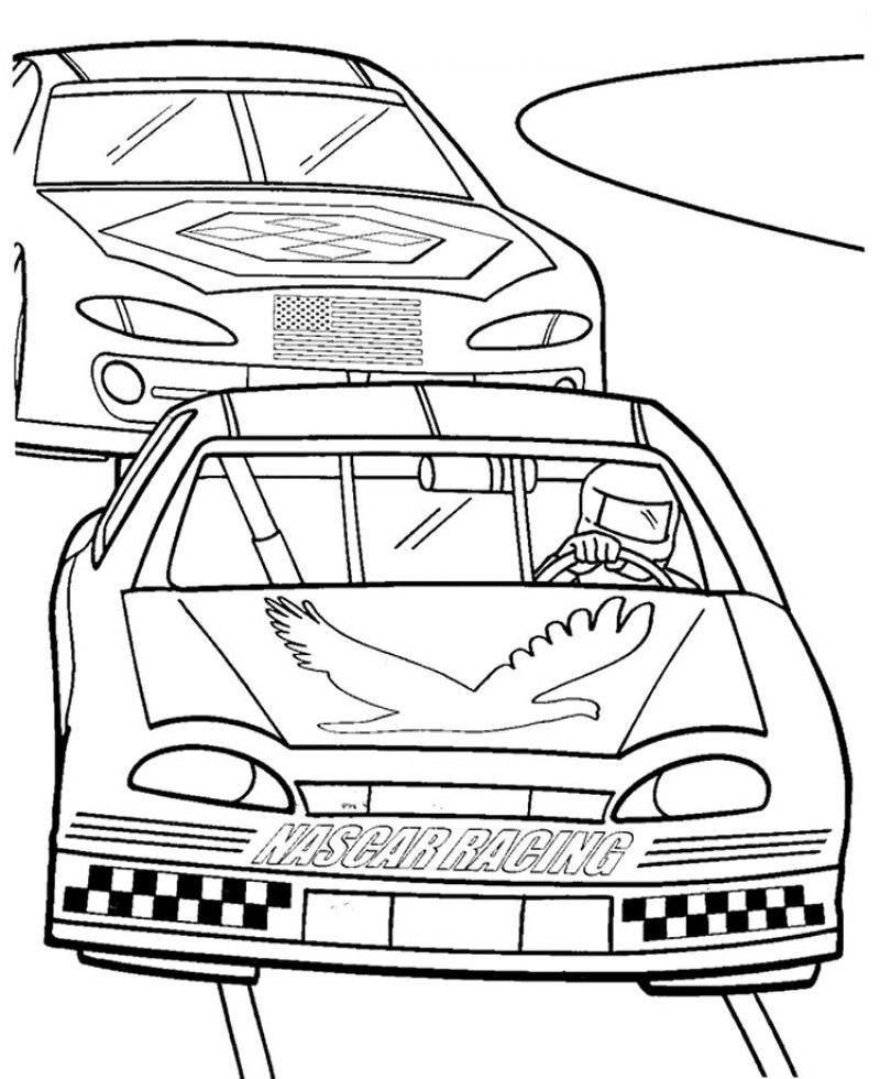 Nascar Coloring Pages For Kids Coloring Home Nascar Coloring Pages Free Printable
