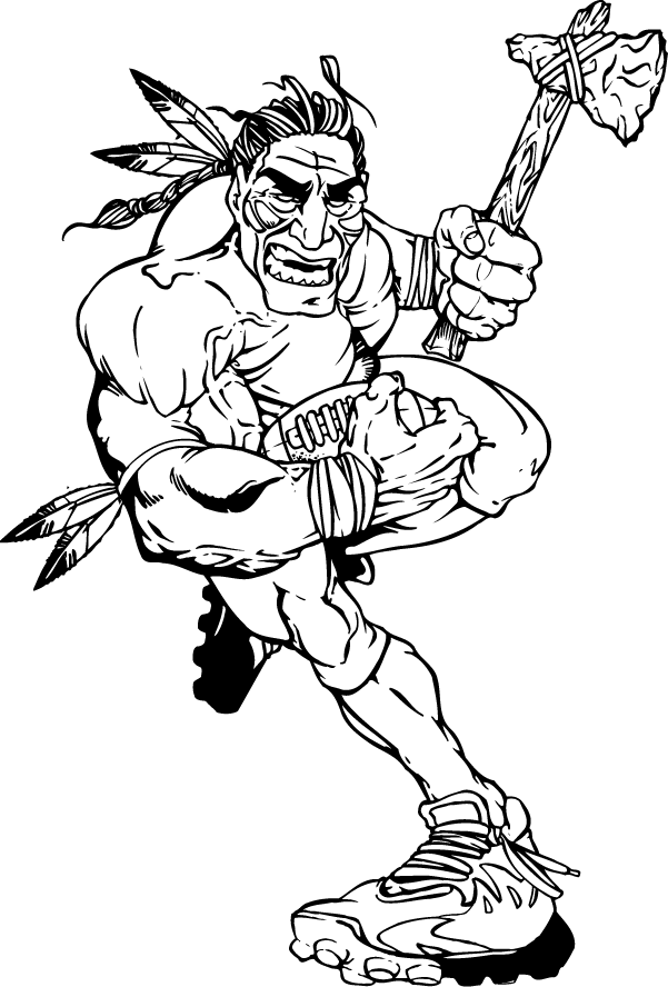 braves mascot coloring pages - photo#31