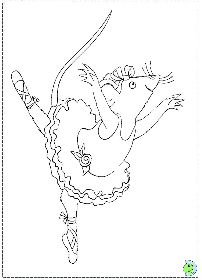 printable coloring pages angelina ballerina - photo#17