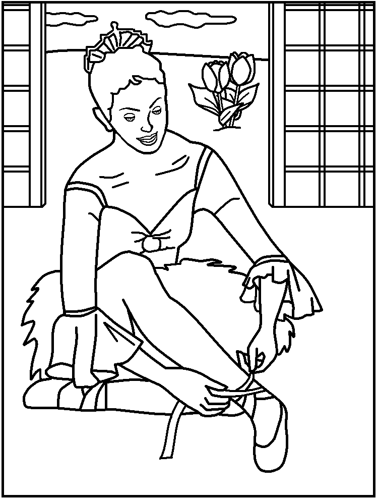 ballerina coloring pages for kids az coloring pages