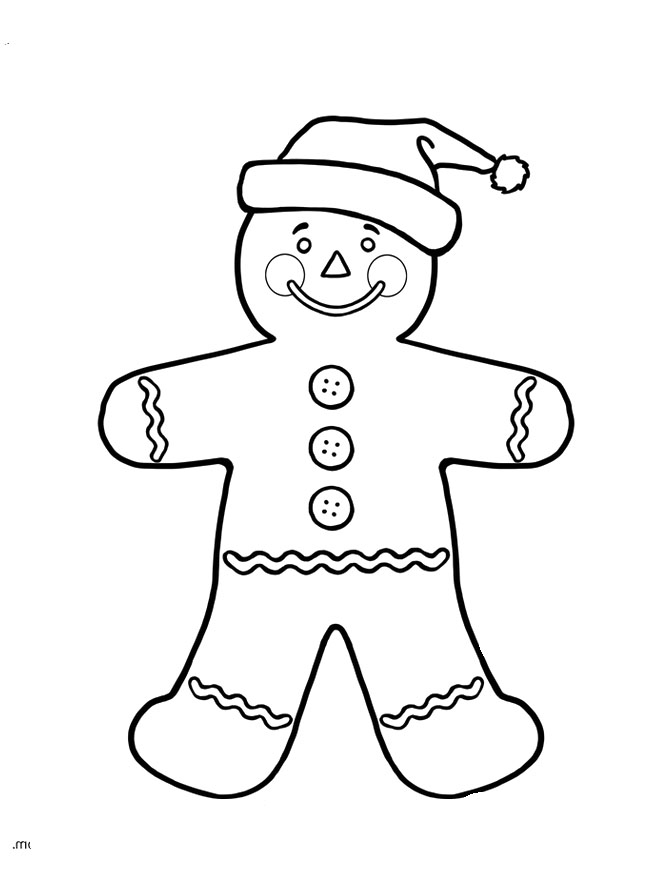 gingerbread coloring page - gingerbread boy coloring page az coloring pages