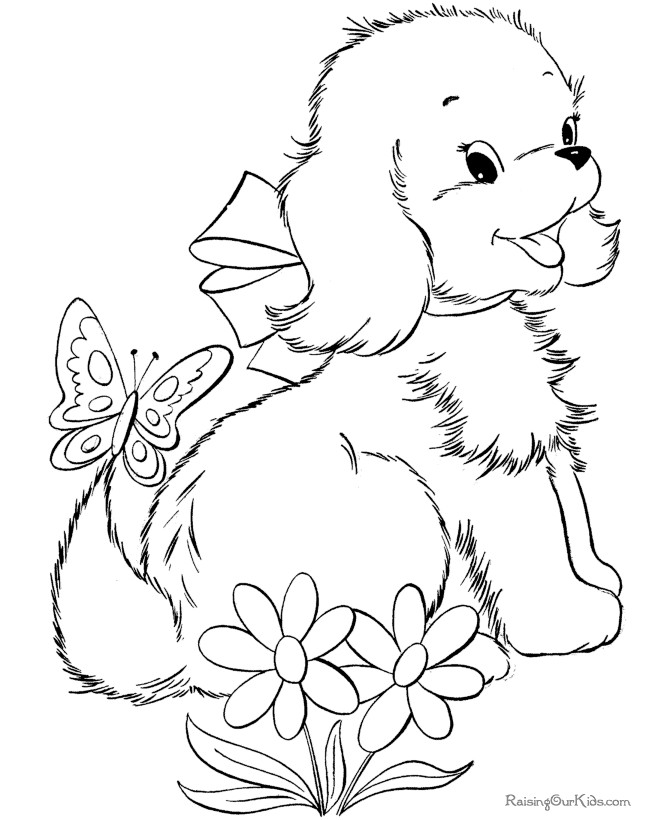 cute animals coloring pages girl - photo#14