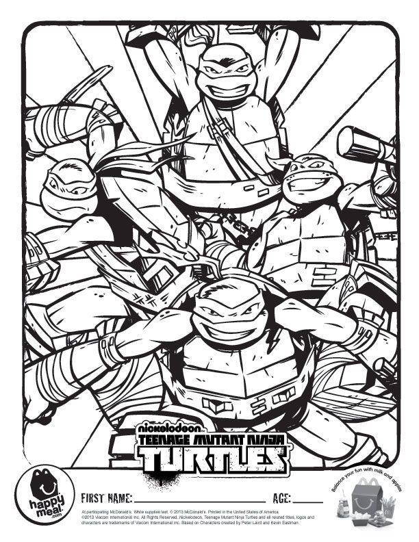 Ninja Turtle Face Coloring Page Images & Pictures - Becuo