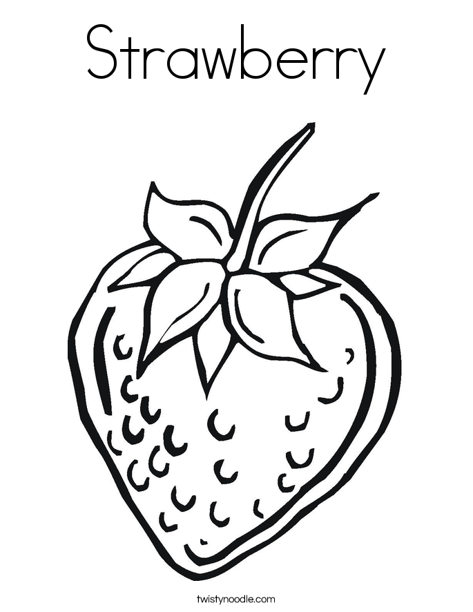 strawberry coloring pages for kids - photo#29