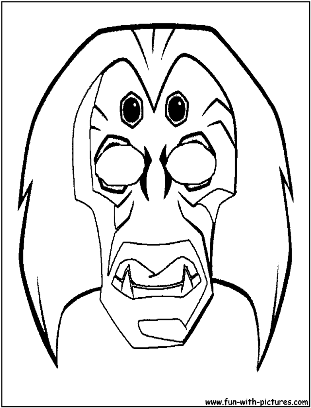 African Mask Coloring Pages Coloring Home
