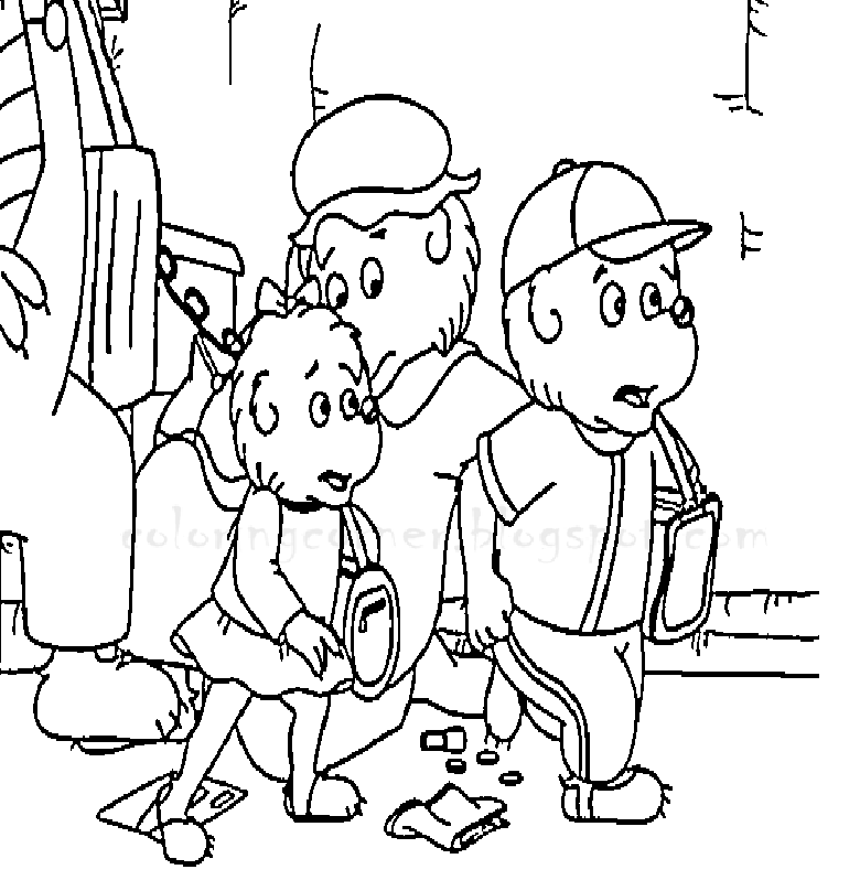 Berenstain Bears Halloween Coloring Pages - Coloring Home