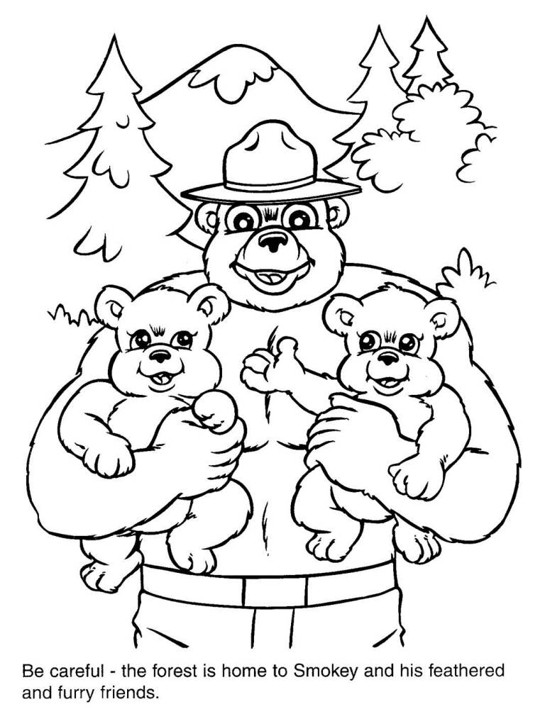 Smokey Bear Coloring Pages Coloring Home Smokey Coloring Pages