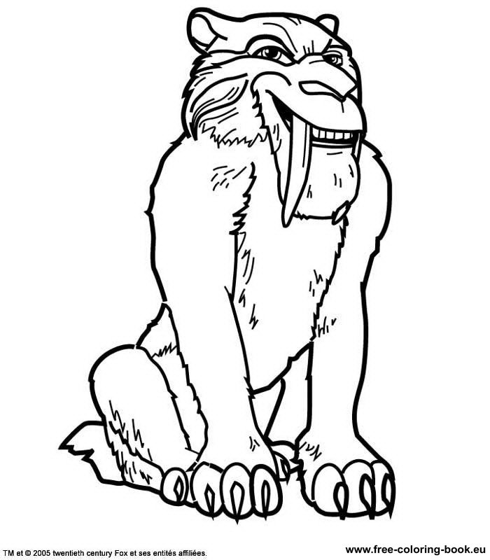Coloring pages Ice Age - Page 2 - Printable Coloring Pages Online