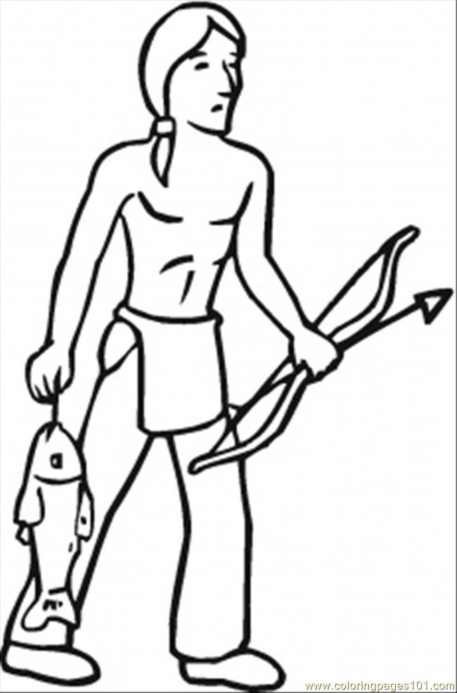 Indian Coloring Page  Coloring Home