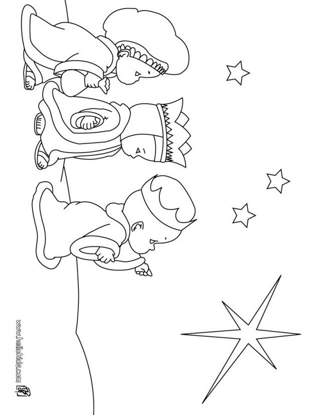 Simple Three Wise Men Coloring Page Source Rq Best Res