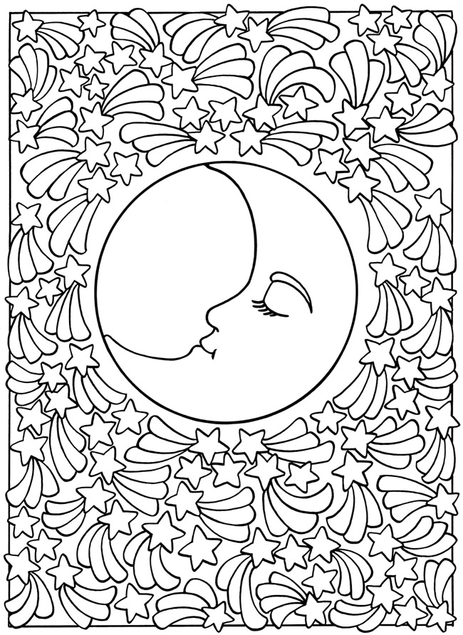 Sun And Moon Coloring Pages - AZ Coloring Pages