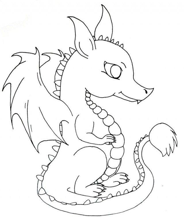 Baby Dragon Coloring Pages Pictures Imagixs Thingkid Baby Dragon