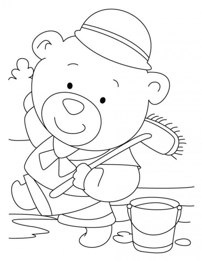 Bear Coloring Pages Pdf : Build a bear coloring pages home