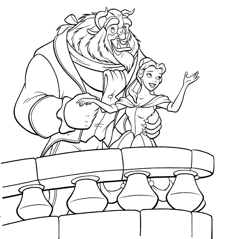 Belle coloring book coloring pages for Belle coloring pages