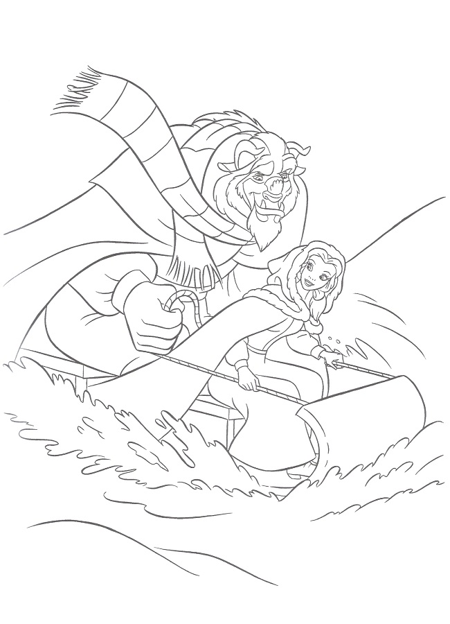 disney winter time coloring pages - photo#17