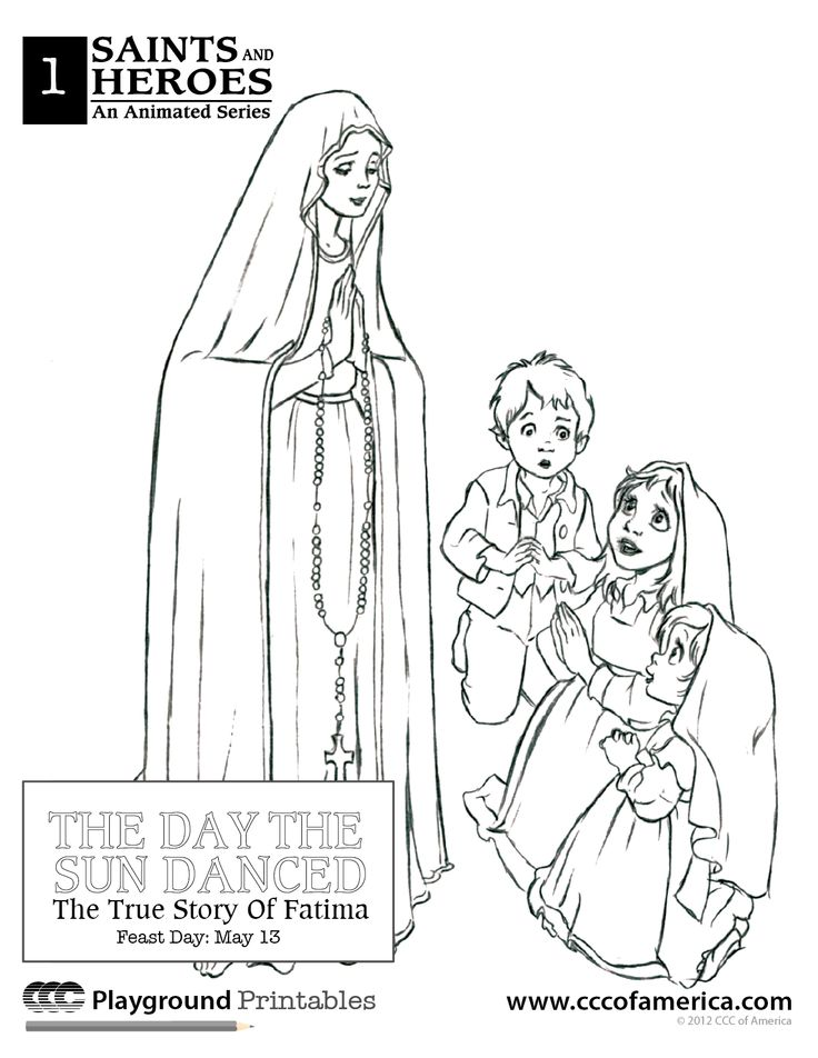 Our Lady Of Fatima Coloring Books | Catholic- Coloring Sheets ...
