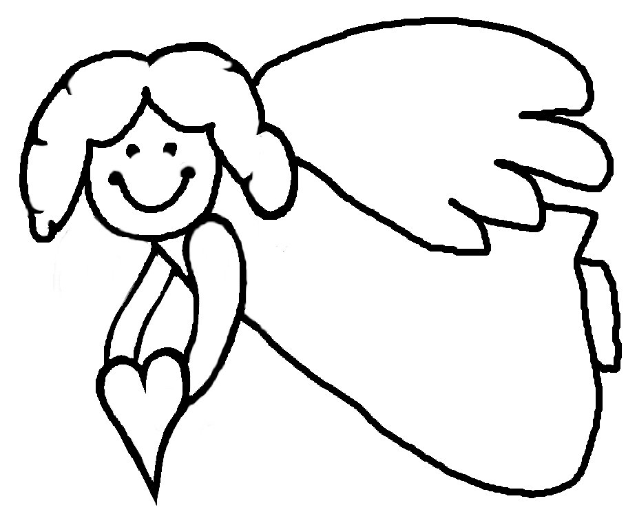 Angel printable coloring pages az coloring pages for Free printable angel coloring pages