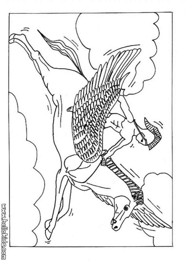 free fun coloring pages myths - photo#4
