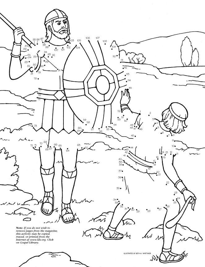 bible coloring pages david and goliath | David King Bible Coloring Coloring Pages
