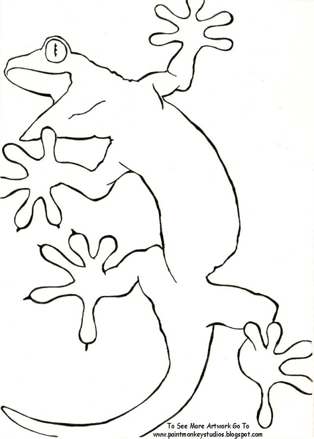 Gecko coloring page az coloring pages for Gecko coloring pages