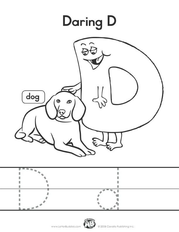 Paw Patrol Letter D Coloring Page