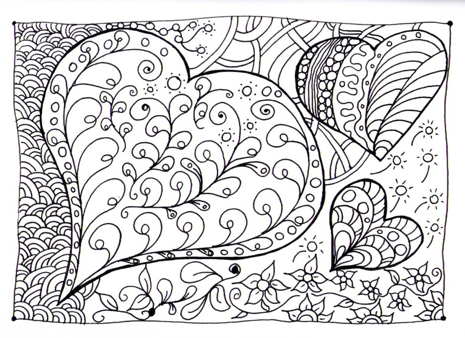 Let s doodle rose colouring pages